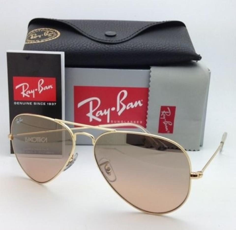941a07f9cd Ray-Ban Rb 3025 Large Metal 001 3e 58-14 Gold W  Brown Pink Gradient New 001  3e Aviator Frame W  Lenses Sunglasses