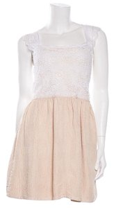 See by Chloé short dress White & Tan on Tradesy