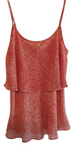 CAbi Flowy Top Coral and Taupe