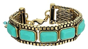 Lucky Brand Lucky Brand Antique Gold Tone Turquoise Flex Bracelet NWT $42