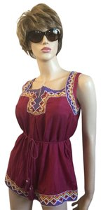 MM Couture Embroidered Drawstring Tunic