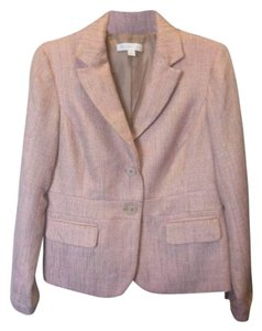 New York & Company Pink/Cream/Gold Blazer