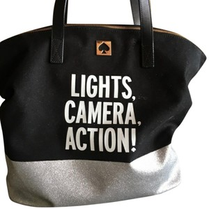 Kate Spade Call To Action Lights Camera Action Tote in Blue