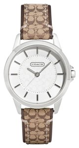 Coach Coach Classic Signature Brown Leather Watch 14501525