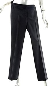 Theory Wool Stretch Straight Pants Black