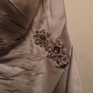 Social Occasions By Mon Cheri Silver Dress