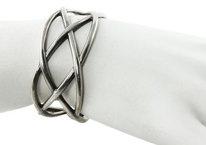 Tiffany & Co. * Tiffany & Co. Sterling Silver Wide Knot Cuff Bracelet Italy