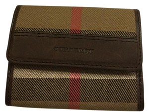 Burberry Burberry Leather Trim Card Wallet