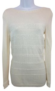 D. EXTERIOR White Knit Sweater