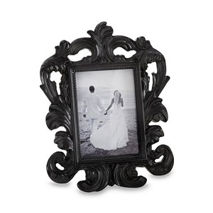 16pc X Kate Aspen Black Baroque Place Card And Photo Holder Wedding Favor