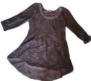 BKE Lace Textured Fun Lovely Sweater