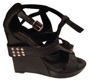 Michael Antonio Dark Grey Black Wedges