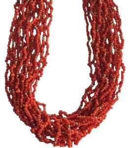 Other Steal - Sterling Silver Coral Necklace