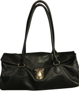 Prada Shoulder Hobo Satchel in Black leather
