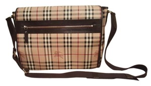 Burberry Messenger Laptop Diaper Satchel in Nova check