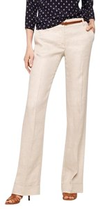 J.Crew Straight Pants Tan Linen