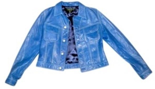 Ralph Lauren Spring Summer Blue Leather Jacket
