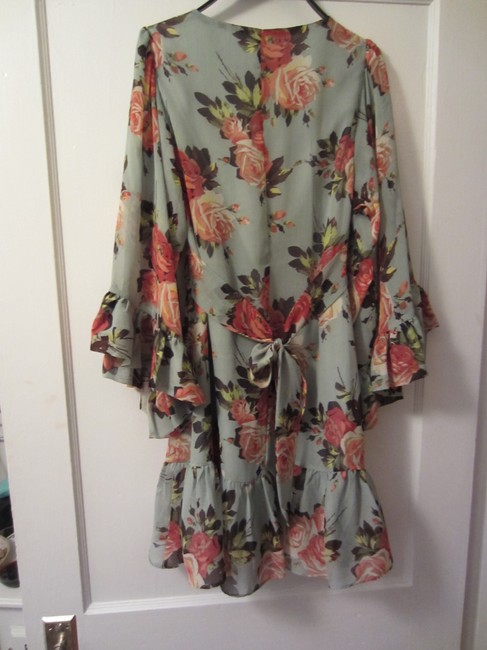 Betsey Johnson short dress Light blue, floral 70's Flowy on Tradesy