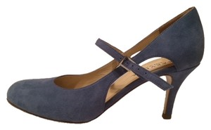 Aquatalia by Marvin K. K Mary Jane Cutouts Blue Pumps