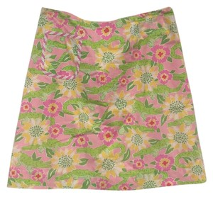 Lilly Pulitzer Skirt Pink, Green, Yellow, White