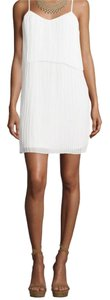BCBGeneration short dress Optic White Bcbg Pleated on Tradesy