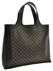 Cline Macadam Satchel Tote in Dark Brown
