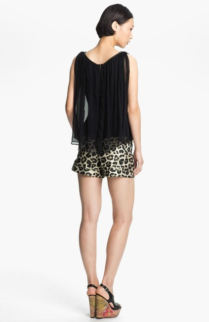 Alice + Olivia Silk Billowy New Top Black