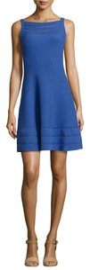 Kate Spade Blue Fit And Flare Sweater Dress