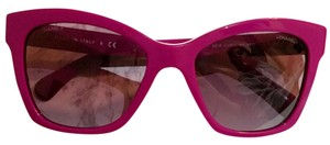 Chanel New Chanel Fuchsia Pantos Signature Polarized Lego Butterfly Sunglasses with Hard Case