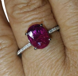 SALE*1.92CT 2-IN-1 NATURAL UNTREATED RUBY SAPPHIRE&DIAMOND 10K RING