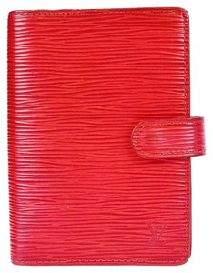 Louis Vuitton Louis Vuitton Epi Leather Agenda in Red 0947*