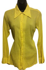 Dior Button Down Shirt Yellow