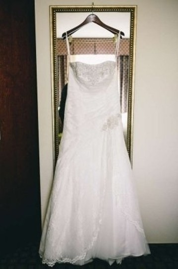 Preload https://item4.tradesy.com/images/david-s-bridal-ivory-lace-strapless-fit-and-flare-gown-p3344-plus-bonus-items-wedding-dress-size-14--155098-0-0.jpg?width=440&height=440