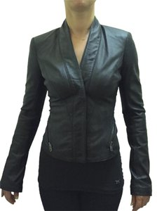 Rachel Zoe Black leather Blazer