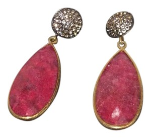 Ruby and topaz Red Ruby And Topaz Earrings