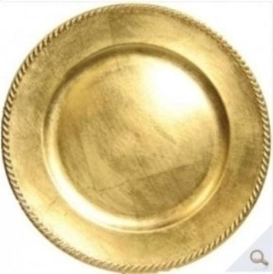 Gold 25 Charger Plates