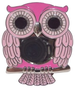 Bath and Body Works Bath & Body Works Pink METAL Owl Scentportable Car Visor Clip