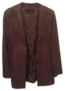Jones New York Brown Leather Jacket