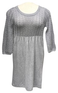Ella Moss short dress Silver Cashmere Sweater on Tradesy