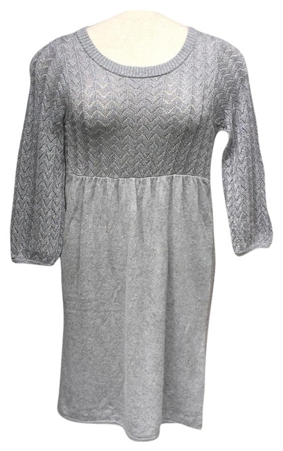Ella Moss Silver Starlet Above Knee Short Casual Dress Size 4 (S) Ella Moss Silver Starlet Above Knee Short Casual Dress Size 4 (S) Image 1