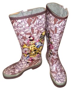 Ed Hardy Colorful Boots