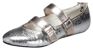 Harajuku Lovers Silver Gold Pewter Metallic Flats