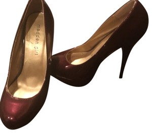 Madden Girl Pumps Heels Red Burgundy Platforms