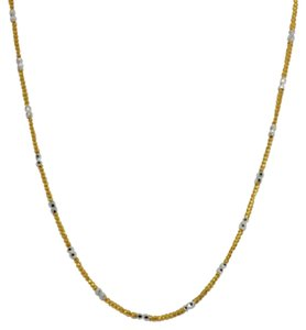 Other 18K Solid Gold Two-Tone Diamond Cut Chain 16 inches