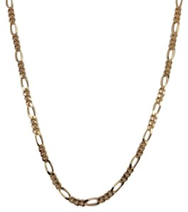18K Solid Yellow Gold Figaro Chain 22 inches