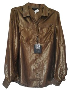 Brooks Leigh Button Down Shirt Gold
