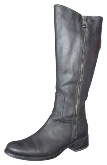 Alberto Fermani Riding Knee High Leather Black Boots