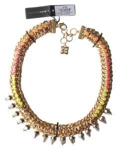 BCBGMAXAZRIA Gold Metal Mesh Necklace