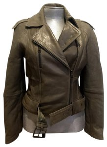 Monarchy Lambskin Cropped Buttersoft Gray Leather Jacket