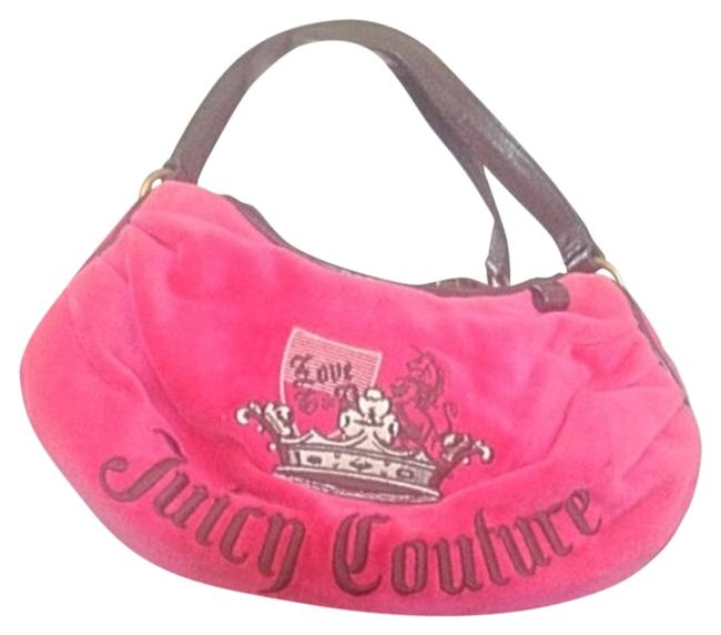 Juicy Couture W Bright W/ Detail Pink & Brown Shoulder Bag Juicy Couture W Bright W/ Detail Pink & Brown Shoulder Bag Image 1